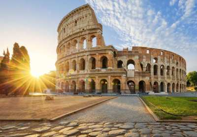 view-of-colosseum-in-rome-and-morning-sun-italy-europe